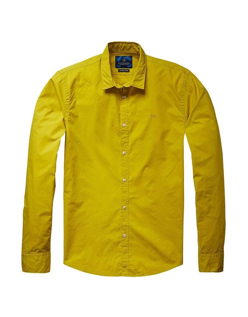 Scotch & Soda Poplin Shirt | Jagar Yellow 136291-1135