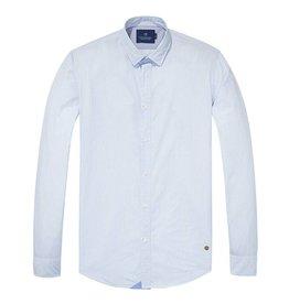 Scotch & Soda Poplin Shirt    White  / Light Blue 139558-0217
