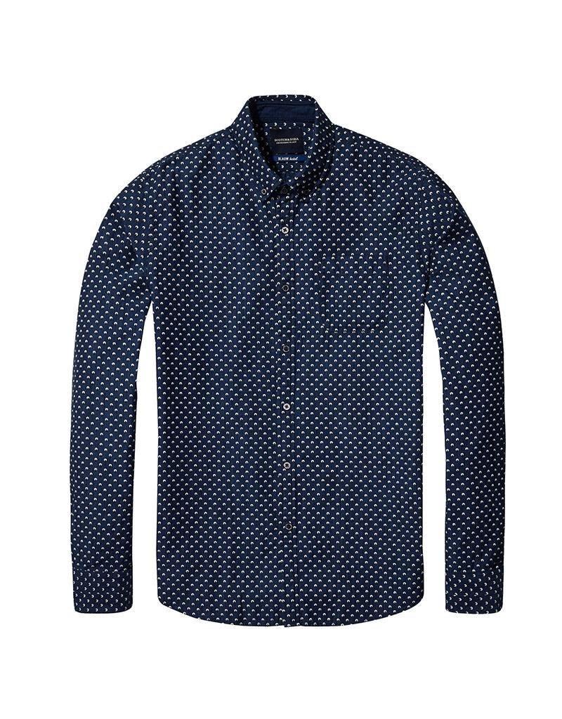Scotch & Soda Slim Fit All Over Printed Shirt  | 137699-0018