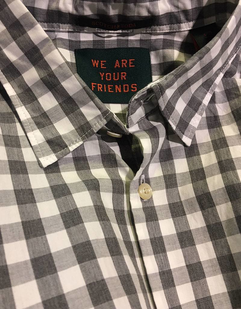 Scotch & Soda Gingham Shirt  Charcoal 101468