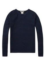 Scotch & Soda Cotton Crewneck Pullover   Navy Striped 137736-18