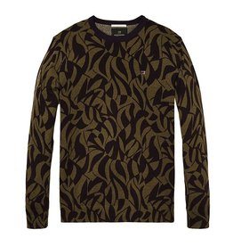 Scotch & Soda Cotton Printed Crewneck Pull Over | 139782-0217