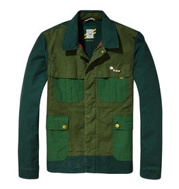 Scotch & Soda AMS Blauw | Gaucho Customised Workwear Canvas Race Jacket  | 137538-17