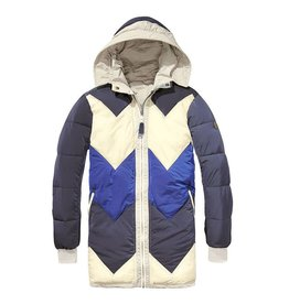 Scotch & Soda Reversible Parka With Colourblock And Quilted Lining | Kit 139204-0086
