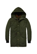 Scotch & Soda Reversible Parka With Colourblock And Quilted Lining   Forest 139204-1710