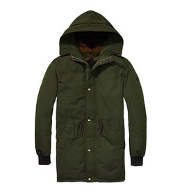 Scotch & Soda Reversible Parka With Colourblock And Quilted Lining | Forest 139204-1710