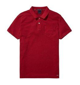 Scotch & Soda Garment Dyed Polo With XXX Pocket | Red 137773-1302
