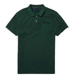 Scotch & Soda Garment Dyed Polo With XXX Pocket | Green 137773-0736