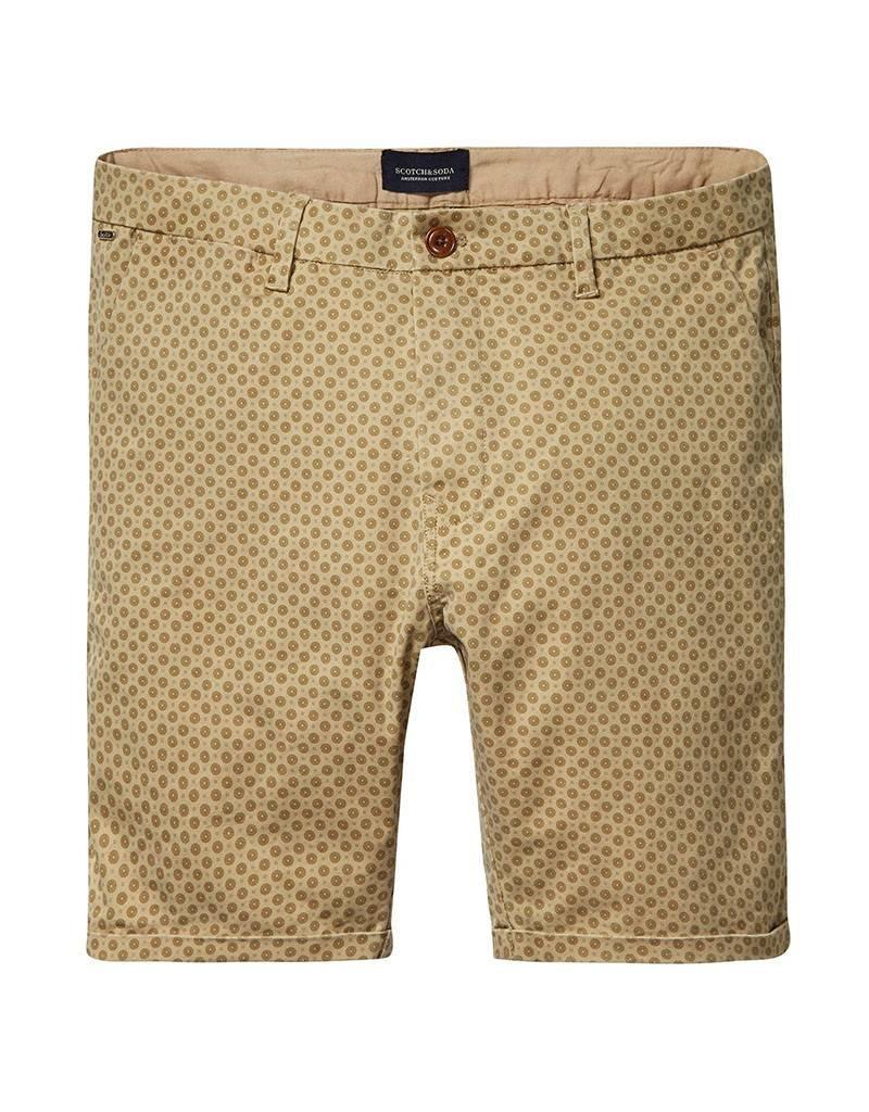 Scotch & Soda Printed Chino Shorts   Tobacco 136232-0217