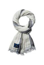Scotch & Soda Cotton Scarf   White / Blue 136608-0219