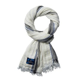Scotch & Soda Cotton Scarf | White / Blue 136608-0219