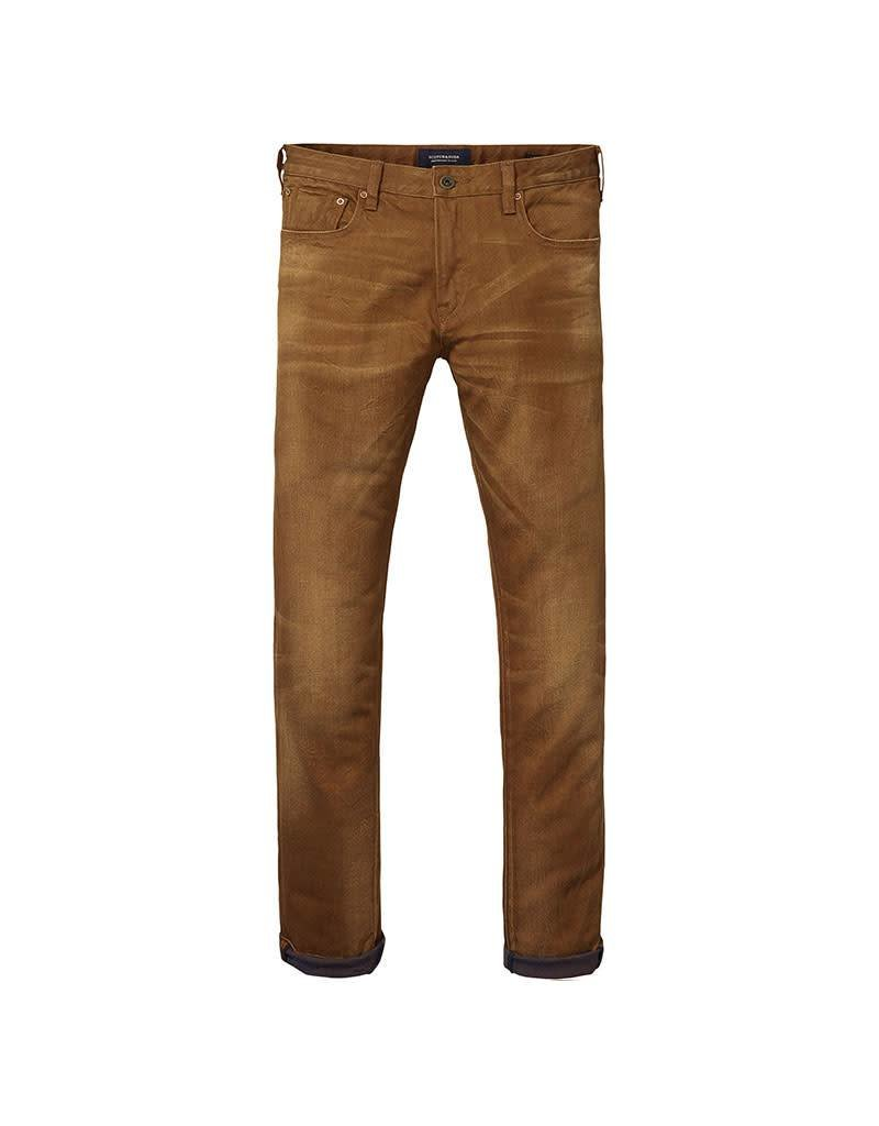Scotch & Soda Skim Jean |  Yarn Dyed Colours | Tobacco 137585-1341