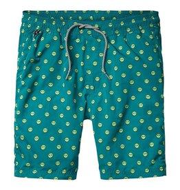 Scotch & Soda Printed Classic Swimshorts | Green Smiley 136696-0217