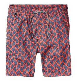 Scotch & Soda Printed Classic Swimshorts | Orange Shells 136696-0218