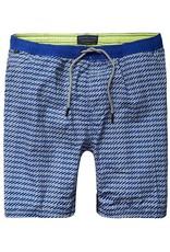 Scotch & Soda Classic Printed Swimshort | White On Blue 136687-0218