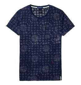 Scotch & Soda Printed Tee With Regular Fit | Blue 132808-0020