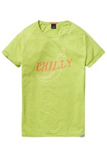 Scotch & Soda Printed Tee With Regular Fit   Lime Green 136477-1284