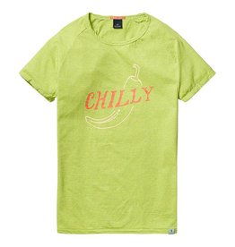 Scotch & Soda Printed Tee With Regular Fit | Lime Green 136477-1284