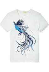 Scotch & Soda Printed Tee With Regular Fit   White/ Embroidered 134294-20