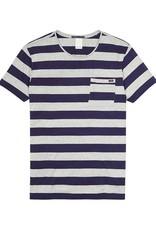 Scotch & Soda Striped Tee With Regular Fit | Blue/ Grey 132598-18