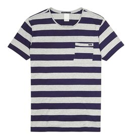 Scotch & Soda Striped Tee With Regular Fit | Blue/ Grey 132598-18