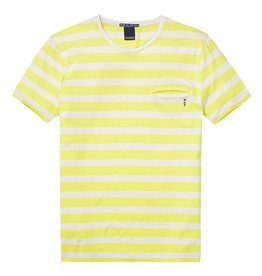 Scotch & Soda Striped Tee With Regular Fit | Yellow/ Creme 134286-17