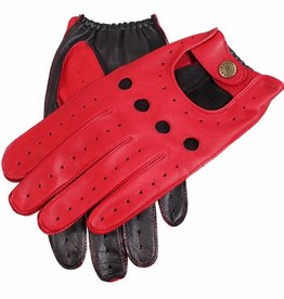 Dents Two-tone Driving Gloves | Berry/Black