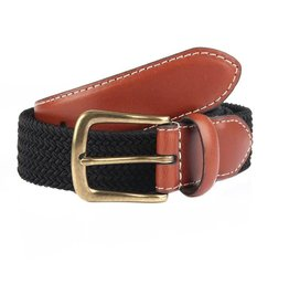 Dents Black Elasticated Belt | 8-4053
