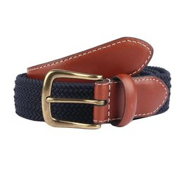 Dents Blue Elasticated Belt | 8-4053