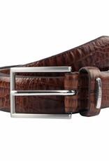 Dents Brown Textured Leather Belt | 8-2006