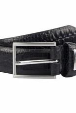 Dents Black Textured Leather Belt | 8-2006