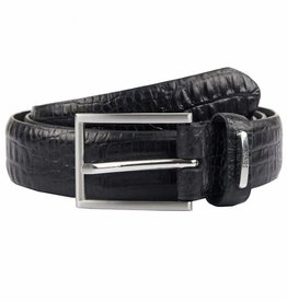 Dents Black Textured Leather Belt | 8-2006