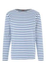 Armor Lux Breton Mariniere Long Sleeve Striped Tee | Royal Blue