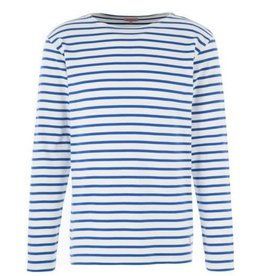 Armor Lux Breton Mariniere Long Sleeve Striped Tee | Royal Blue