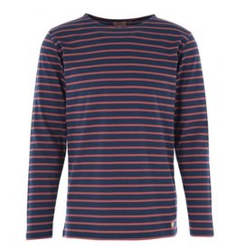 Armor Lux Breton Mariniere Long Sleeve Striped Tee | Navy / Red