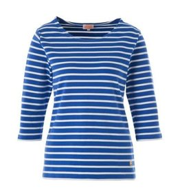 Armor Lux Women's Breton Mariniere Long Sleeve Striped Tee | Royal