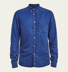 No Nationality Falk Shirt | Blue Tencel