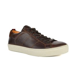 Ambitious Match Leather Casual Court Shoes | Cedar
