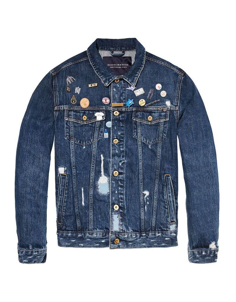 Scotch & Soda AMS Blauw | Trucker Jacket