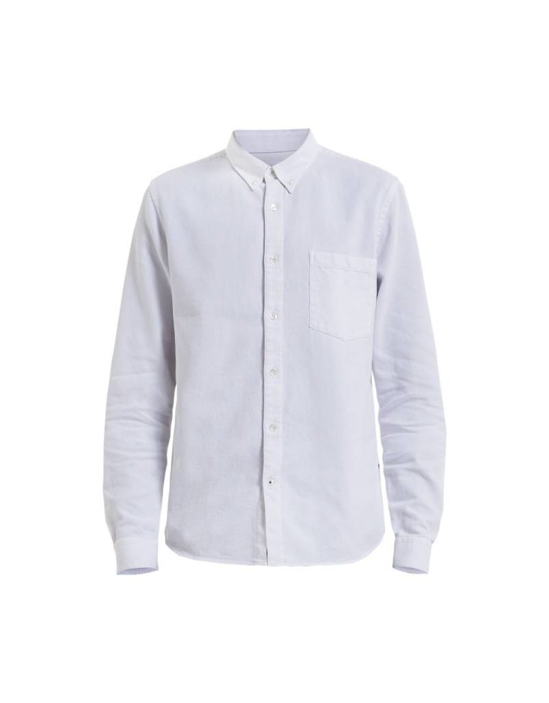 No Nationality Falk Dobby Button Through | White