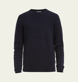 No Nationality Phil Ribbed Knit Cotton Jumper | Navy