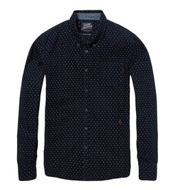 Scotch & Soda Printed Button Down Shirt   Dark Blue
