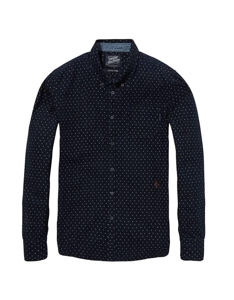 Scotch & Soda Printed Button Down Shirt | Dark Blue