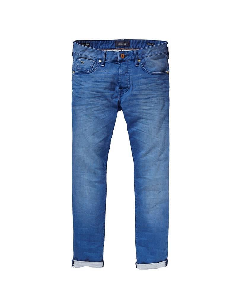 Scotch & Soda Ralston Jean | Garment Dyed Colours | Summer Breeze Blue