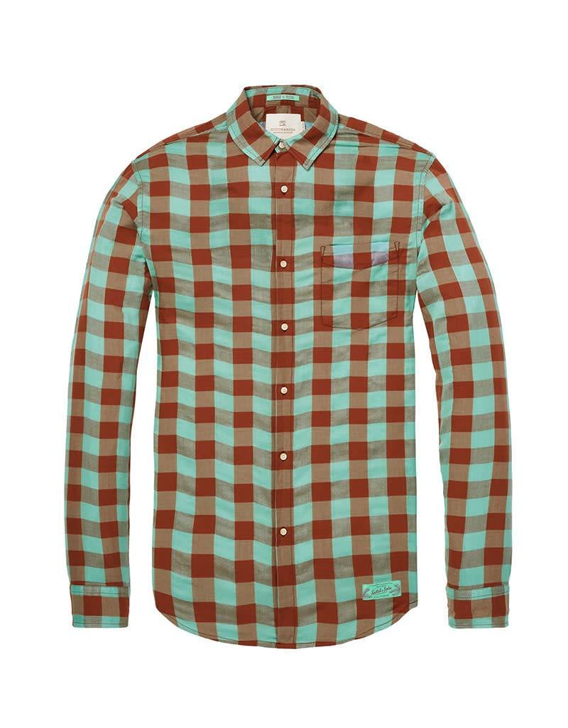 Scotch & Soda Shirt With Colourful Check | Green 142477-0218