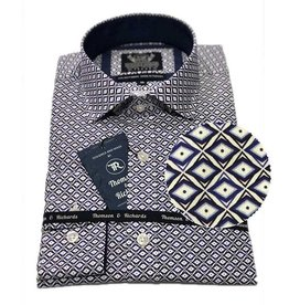 Thompson & Richards Giroud Dress Shirt | Cobalt