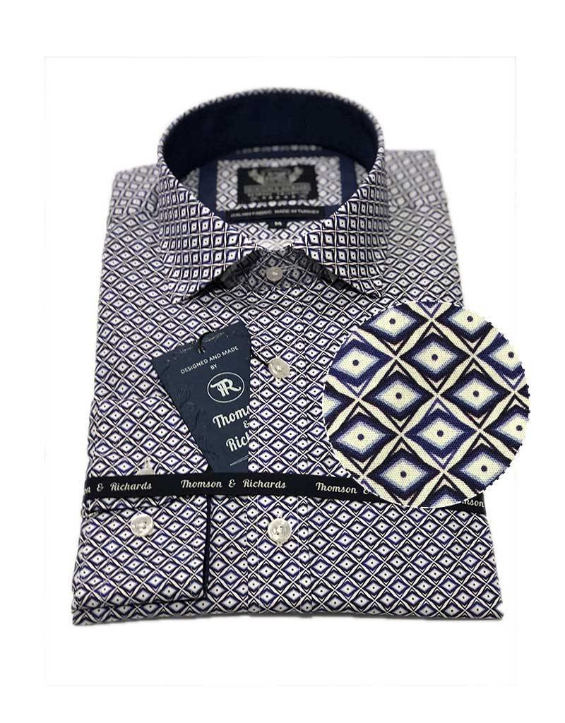 Thompson & Richards Giroud Dress Shirt | Cobalt