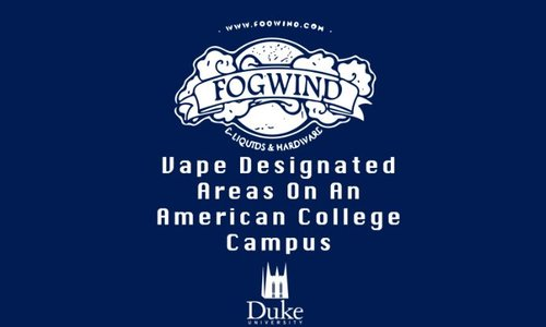 Vape Designated Areas On An American College Campus