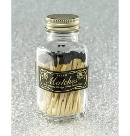 Skeem Design Mini Vintage Match Bottle-Black