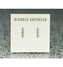 Nichole Shepherd Jewelry Sterling Silver Stud Bar Earrings